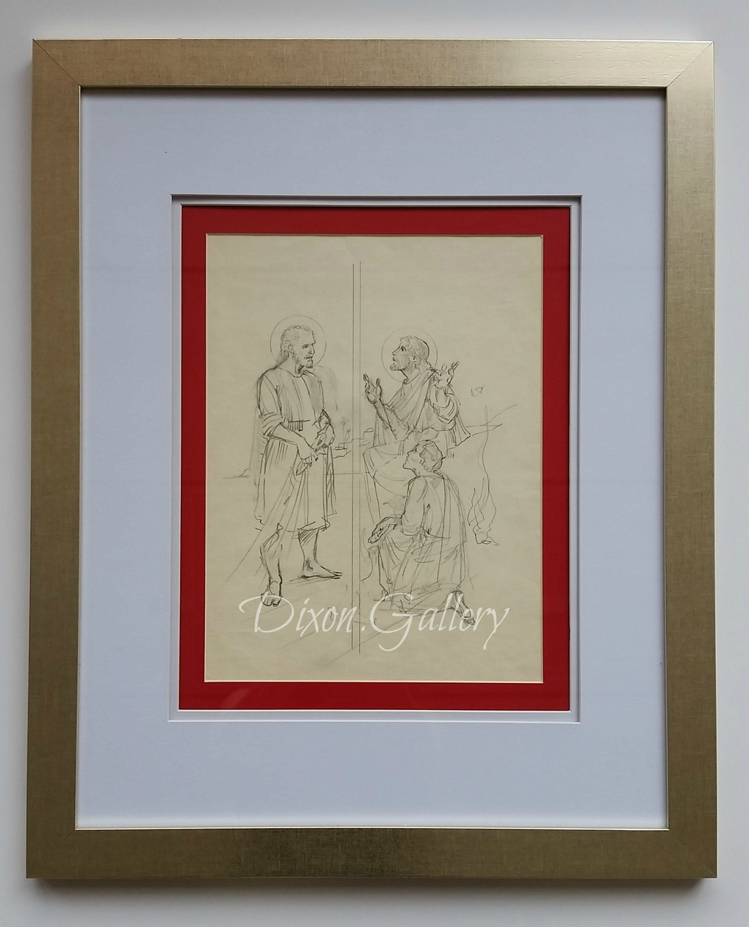 Tend My Sheep - original sketch, framed