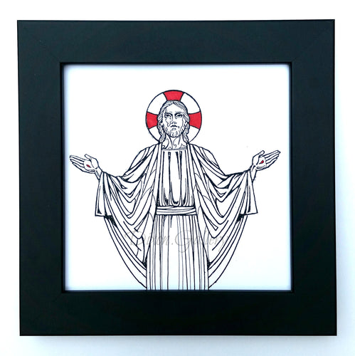 Resurrection - miniature print, framed