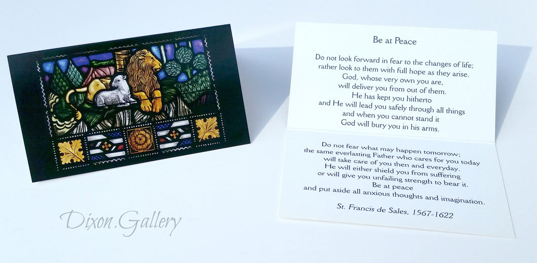Lion & Lamb Prayer Cards, half-dozen or 50