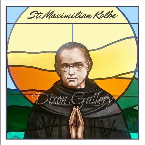 St. Maximilian Kolbe Prayer Cards, dozen