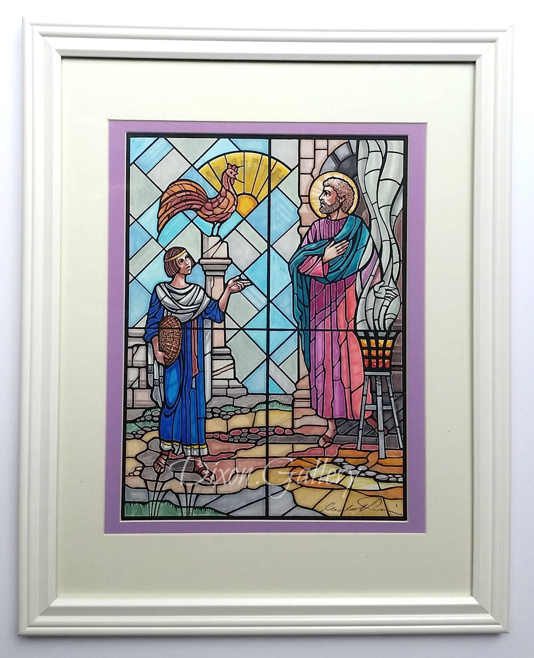 Peter Denies Christ - original design, framed