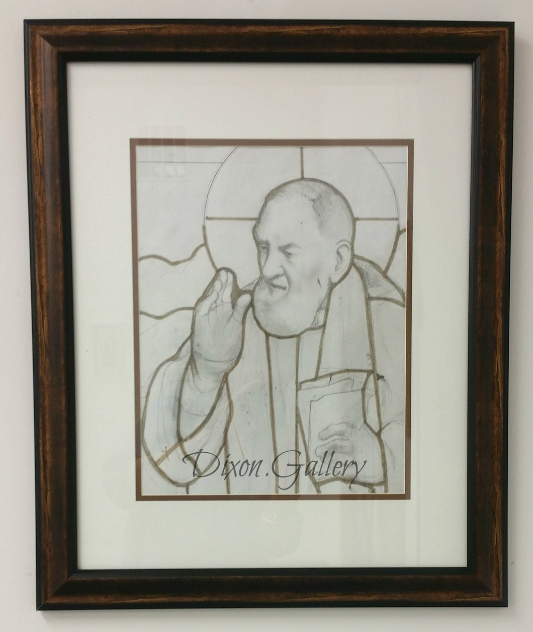 St. Pio of Pietrelcina - original working drawing