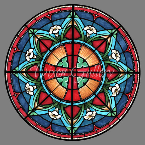 Rose Window Note Cards, 10 pack