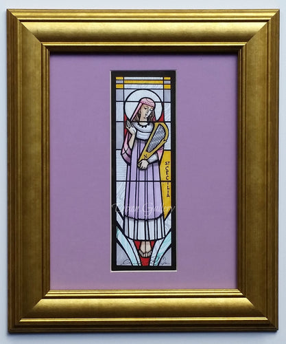 St. Cecilia - original design, framed