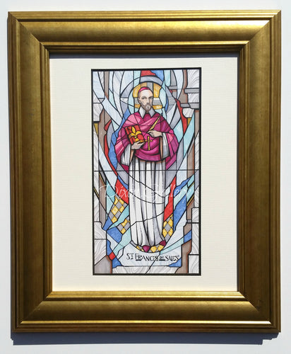 St. Francis de Sales - original design, framed