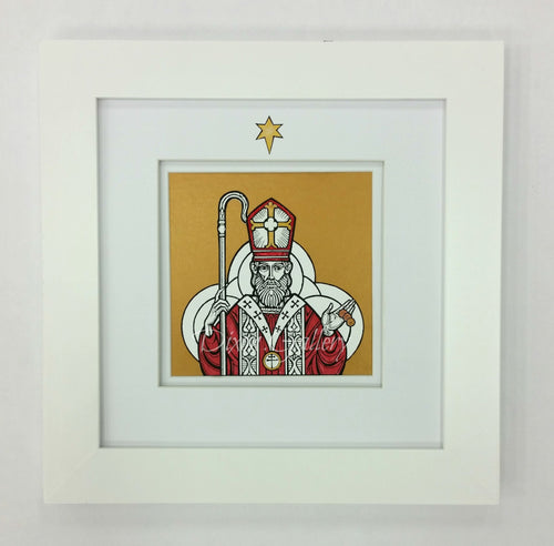 St. Nicholas - open edition print, framed