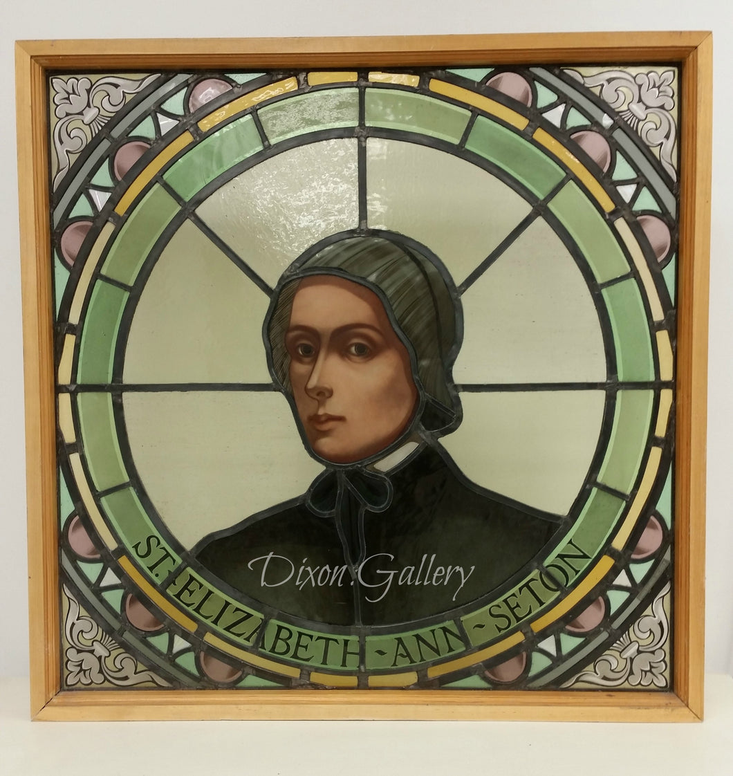 St. Elizabeth Ann Seton - stained glass panel