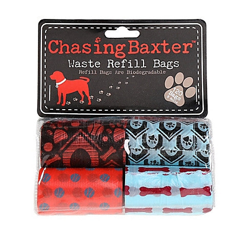 Biodegradable Chasing Baxter™ 120-Count Waste Refill Bags in Red/Black