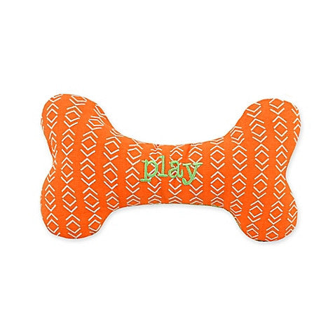 Territory Dog Squeaker Bone Chew Toy - Plaid