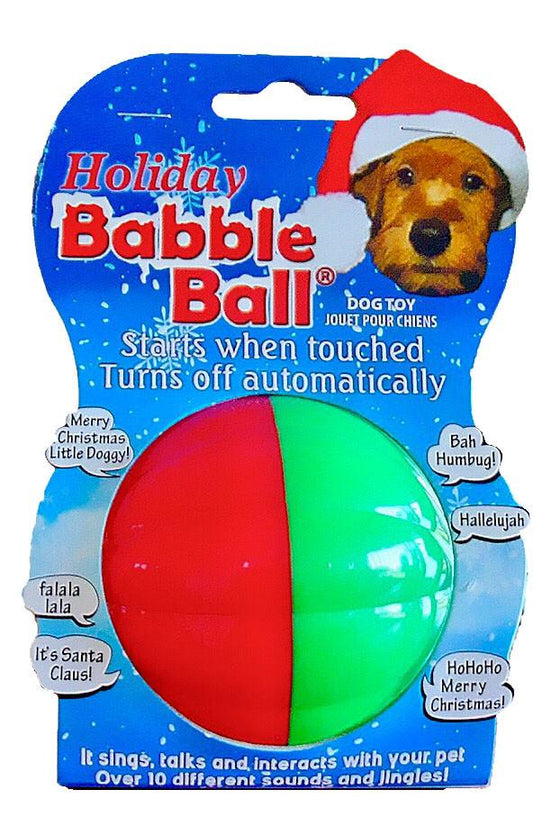 The Holiday Babble Balls® Dog Toy