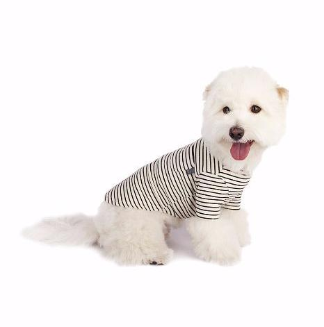 Oh My Dog! Basic Stripe T-Shirt Black
