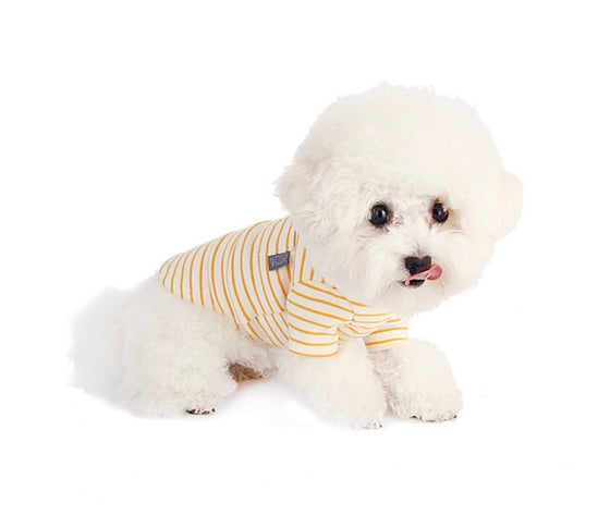 Oh My Dog! Basic Stripe T-Shirt Yellow