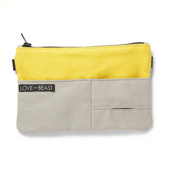Canvas Pouch Yellow - Cross Body + Pet Tote Carrier Attachment
