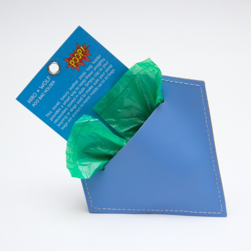 Diamond Botanical Blue Poo Pouch
