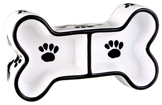 The Paws & Bones Collection - Bone Dog Dish