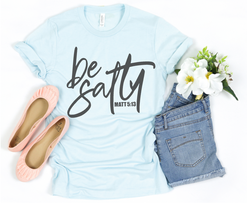 BE SALTY (HEATHER ICE BLUE)