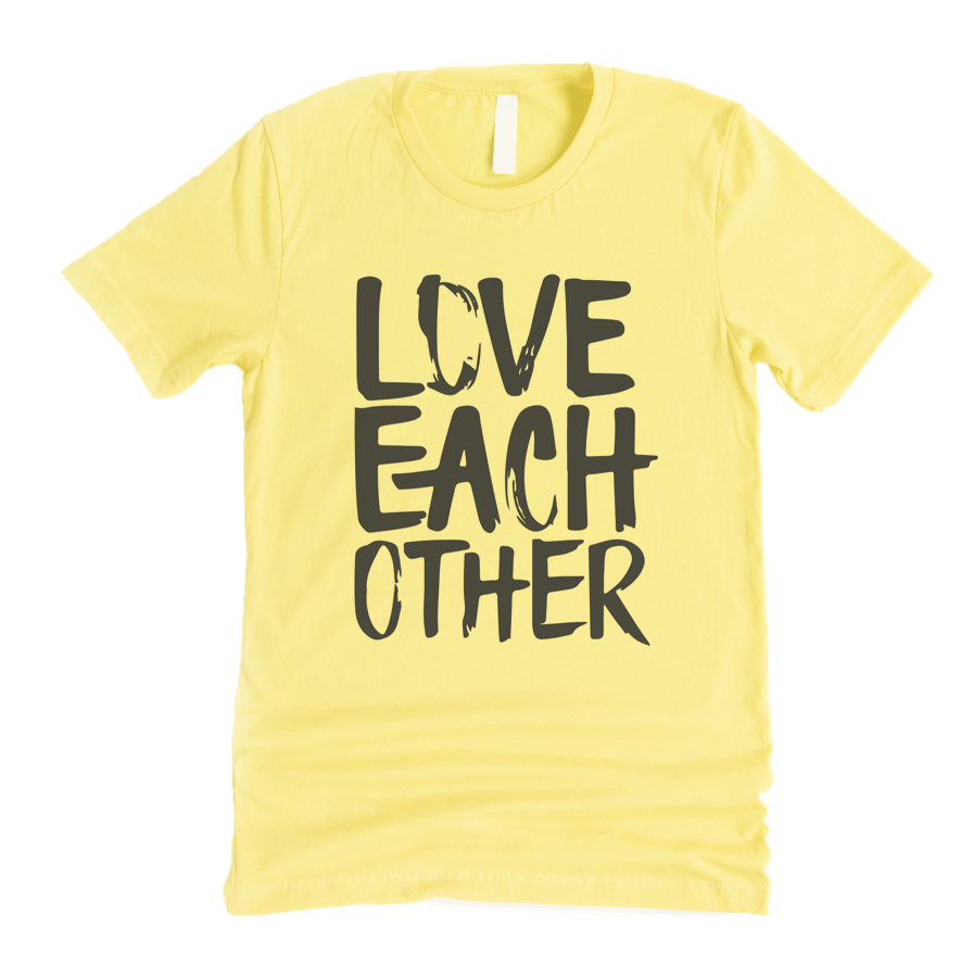 LOVE EACH OTHER - UNISEX TEE - YELLOW
