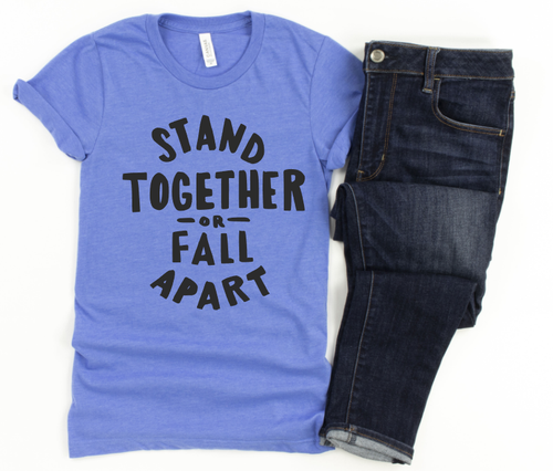 STAND TOGETHER - SHORT SLEEVE TEE (TRUE BLUE)