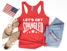 **STEAL** - SPANGLED - RED RACERBACK TANK