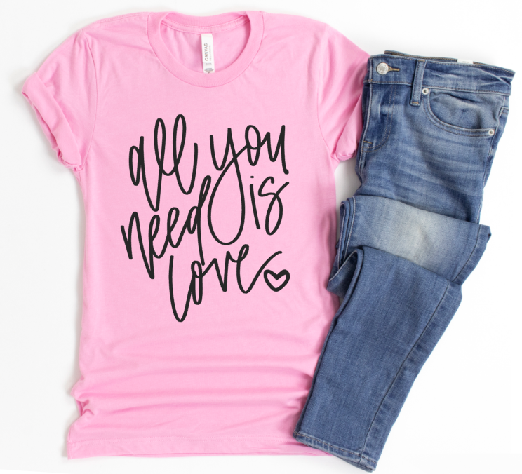 **STEAL OF THE DAY** -NEED LOVE SCRIPT - UNISEX BUBBLE GUM