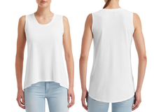 **STEAL** - WHITE - Womens Freedom Sleeveless Tee