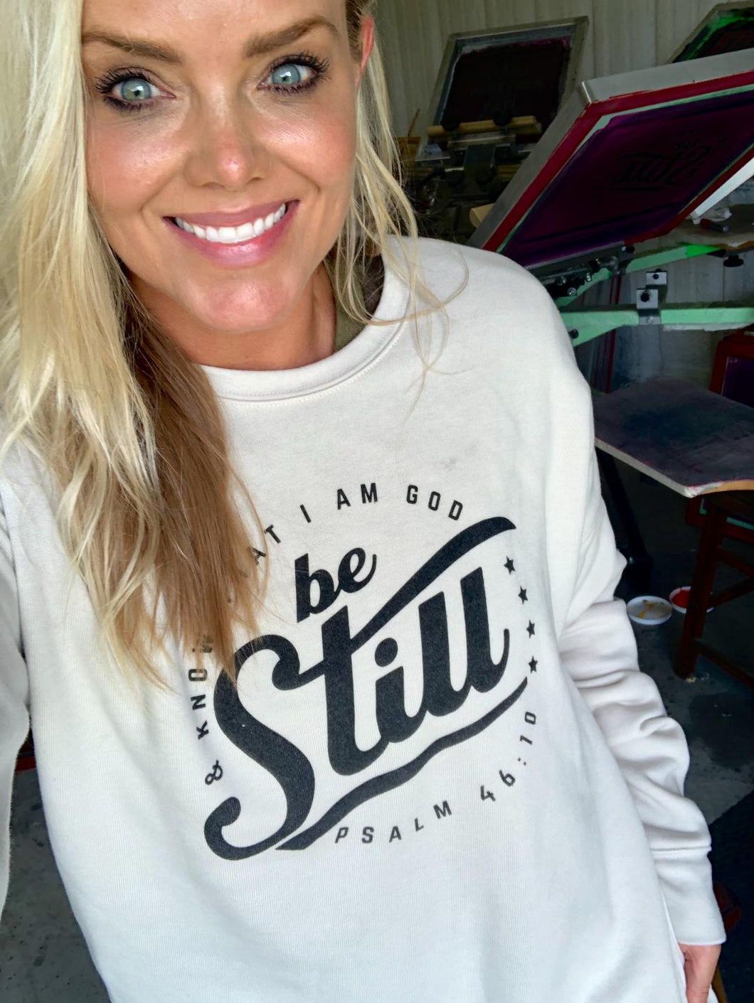 BE STILL - (DUST) CREWNECK SWEATER