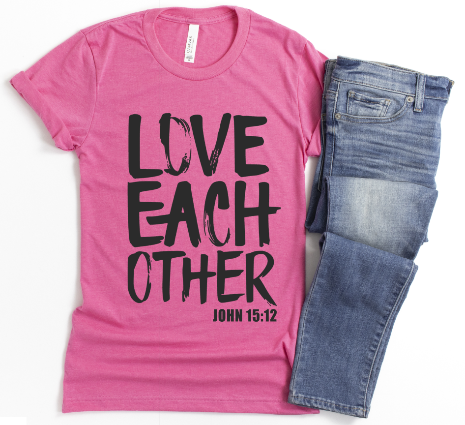 **STEAL OF THE DAY** -LOVE EACH OTHER- UNISEX CHARITY PINK