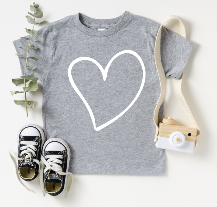 TODDLER/YOUTH - HEART (GREY)