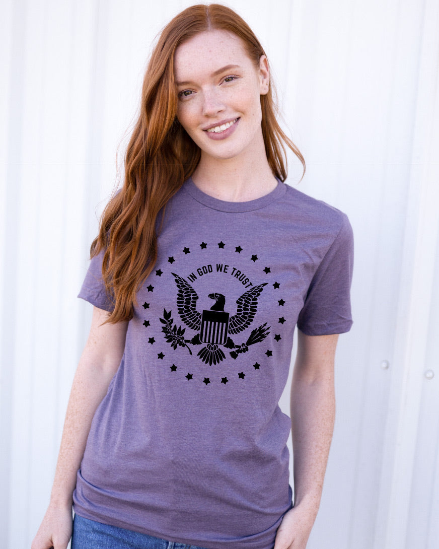 IN GOD WE TRUST- UNISEX PURPLE