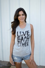 LOVE EACH OTHER - WOMEN'S GREY MUSCLE TANK