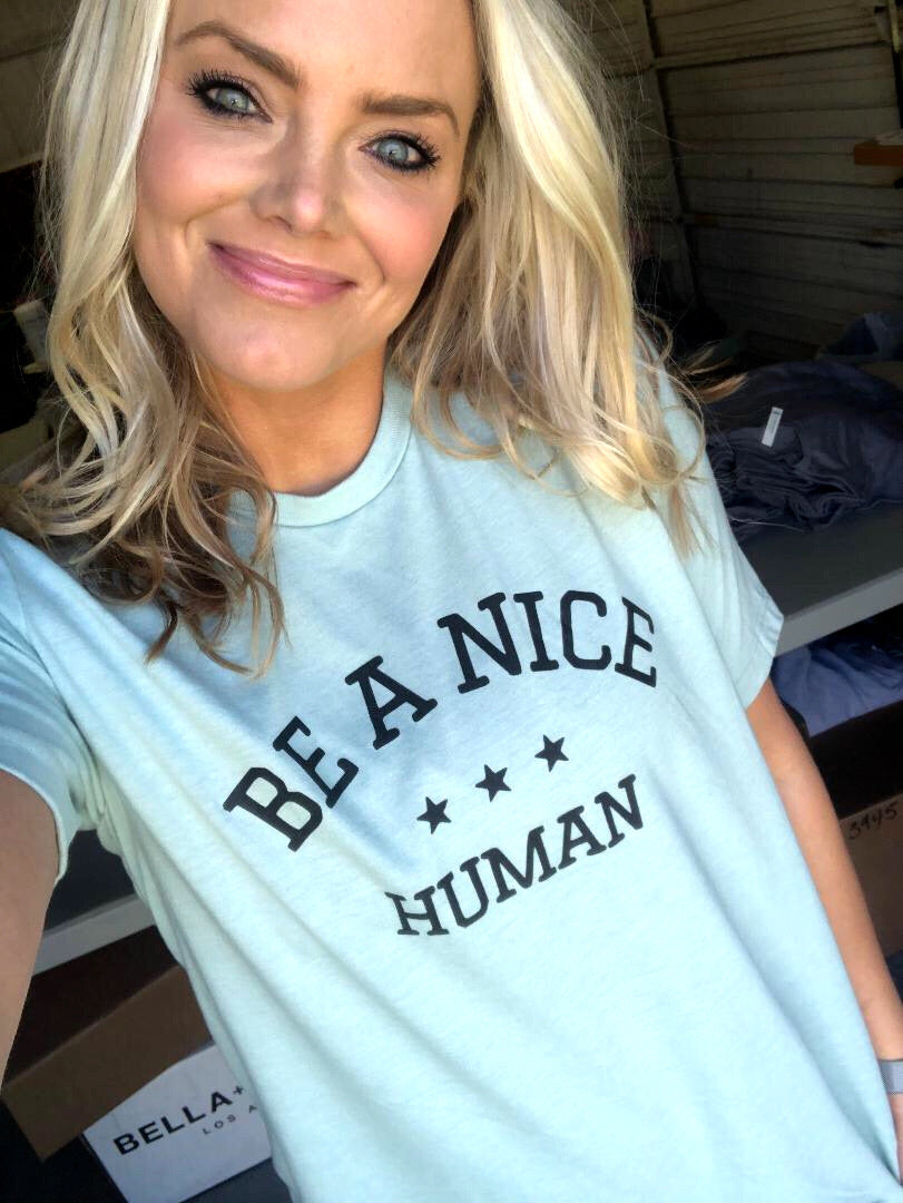 BE A NICE HUMAN (DUSTY GREEN)