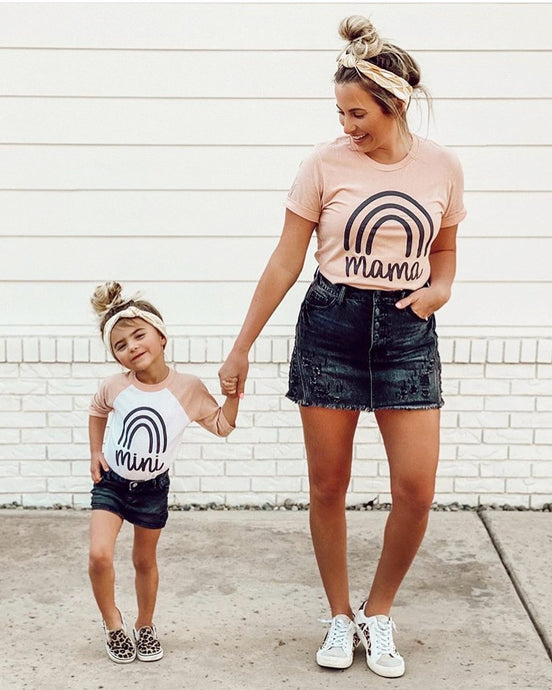 MAMA + MINI (ONESIE, TODDLER, YOUTH, ADULT) PEACH