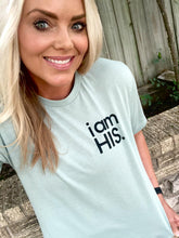 i am HIS - UNISEX TEE - DUSTY GREEN