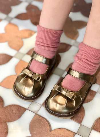 Squeaky Copper Metallic Shoes