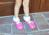 Squeaker Sneakers Mary Jane Hot Pink Shoes