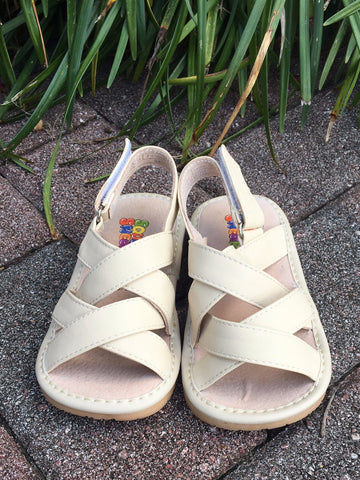 Charlie Cream Squeaky Sandals