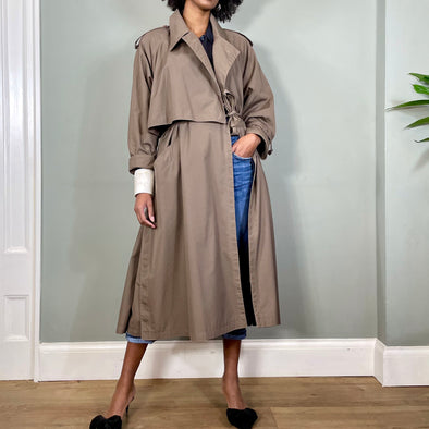 Anya, vintage taupe trenchcoat