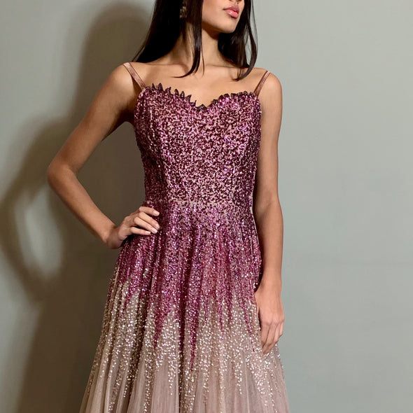 Basia 40s sequins gown