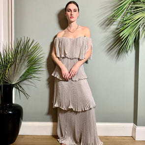 Gloria, pleated vintage dress