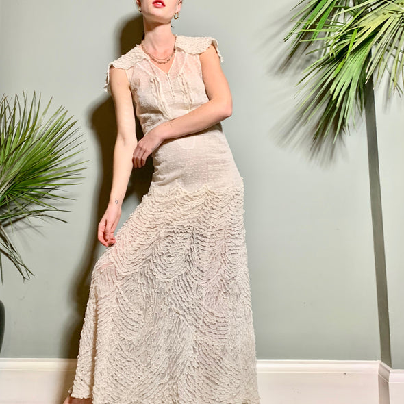 Abella white 20s dress