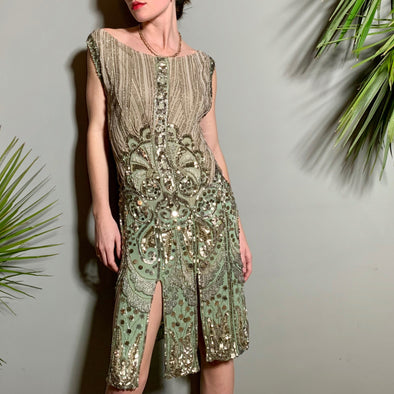 Bea 20s, beaded flapper dress