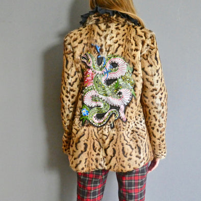 Bless The Holi/Tas Danaz Animal print hand painted coat