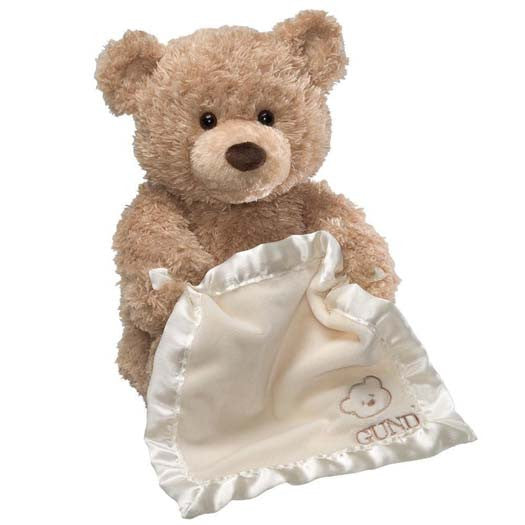 Play Peek A Boo Talking Teddy Bear 33 cm Soft Toy By Gund