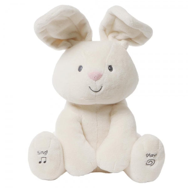 Gund Flora The Animated Bunny Peek a Boo Soft Toy