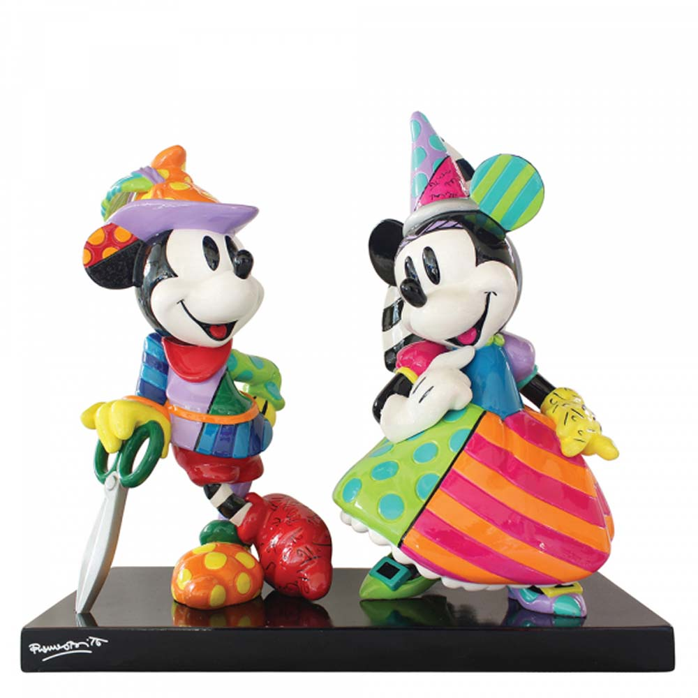 Disney Britto Mickey and Minnie Mouse Figurine Limited Edition (3000) 6006080