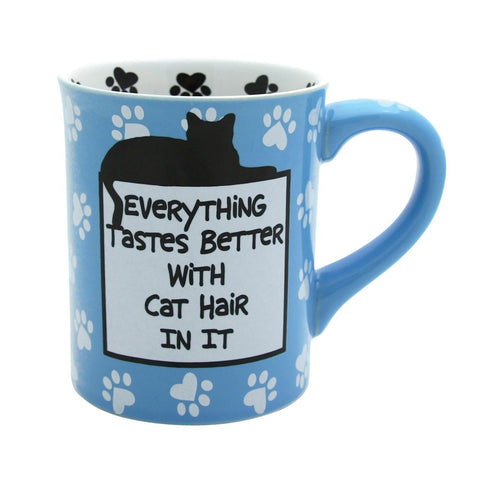 Our Name Is Mud Everything Tastes Better With Cat Hair In It Tea Mug Cup New