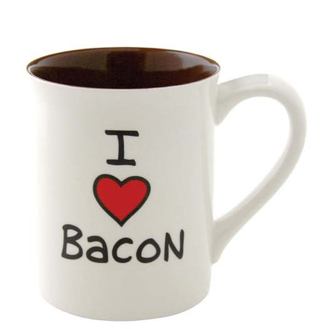 Our Name Is Mud I Heart Bacon Mug Cup Tea Boxed