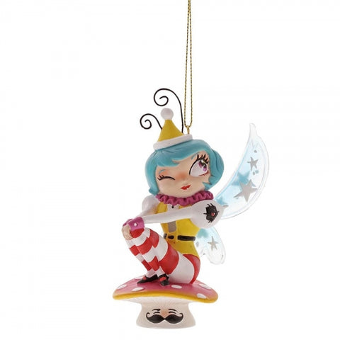 Miss Mindy Mushroom Fairy Christmas Hanging Ornament