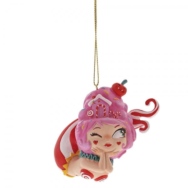 Miss Mindy Cotton Candy Christmas Mermaid Ornament