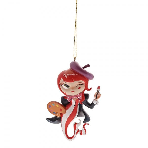 Miss Mindy L'Artiste Mermaid Christmas Hanging Ornament